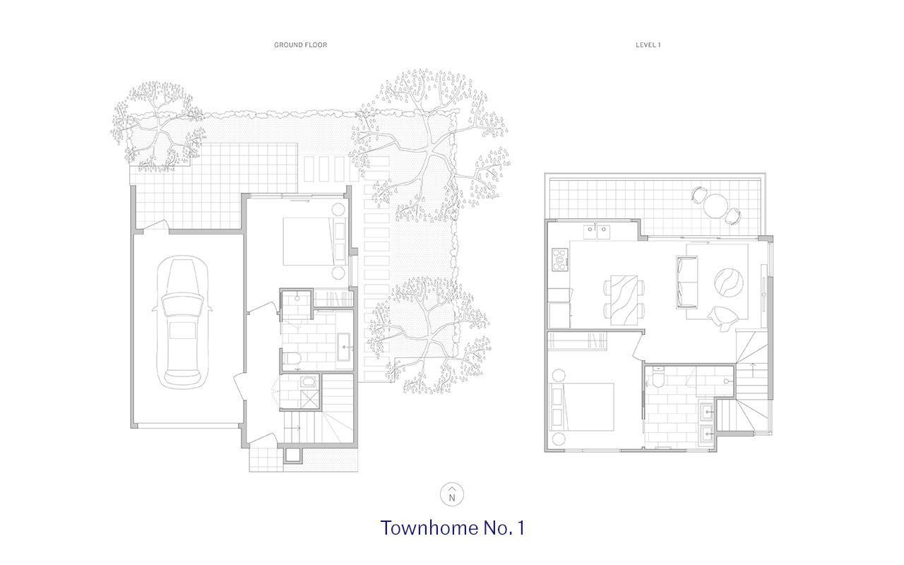 Townhome 1 Floor Plan