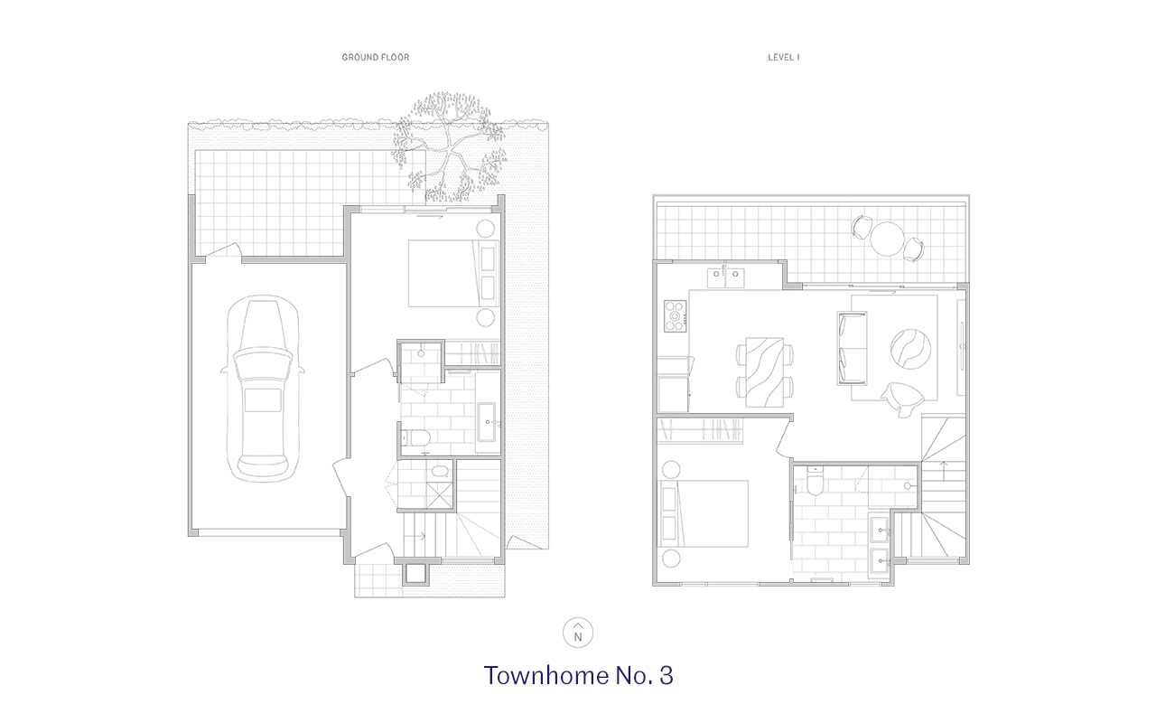 Townhome 3 Floor Plan