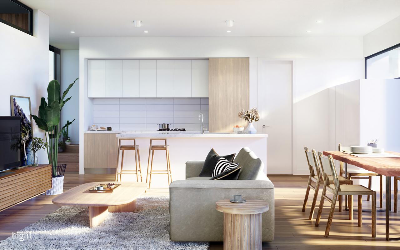 127 Barrabool Rd living room light scheme